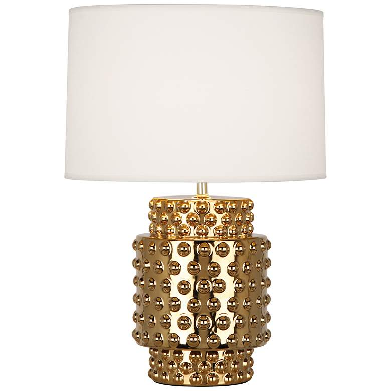 Robert Abbey Dolly White Shade Gold Glaze Table Lamp