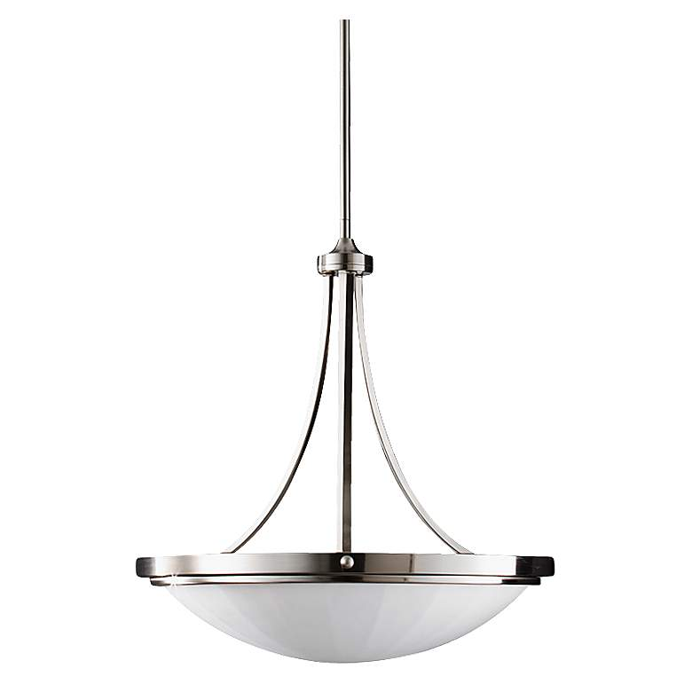 """Feiss Perry 22 3/4""""W Brushed Steel Bowl Chandelier"""