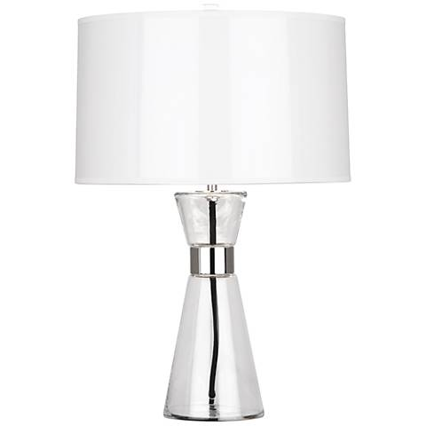 Robert Abbey Penelope Small White Shade Accent Table Lamp