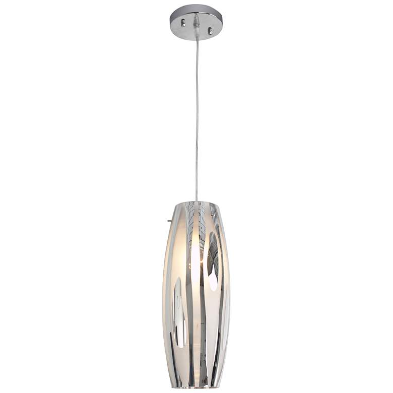"Varaluz Chroman Empire 5 1/2"" Wide Chrome Mini Pendant"