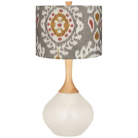 West Highland White Gray Batik Paisley Wexler Table Lamp
