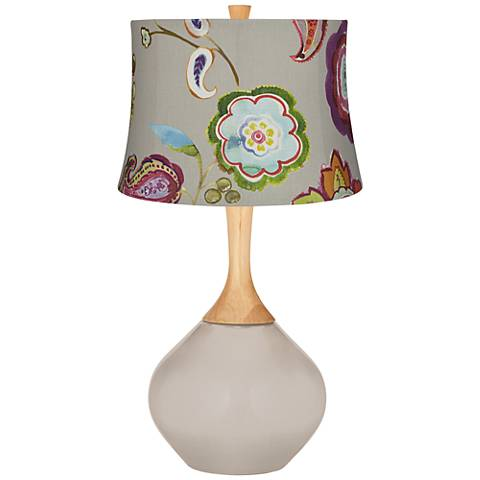 Pediment Beige with Flowers Wexler Table Lamp