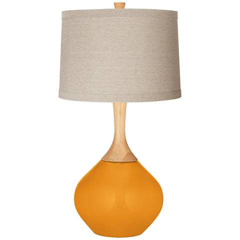 Carnival Natural Linen Drum Shade Wexler Table Lamp