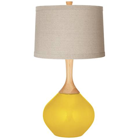 Citrus Natural Linen Drum Shade Wexler Table Lamp
