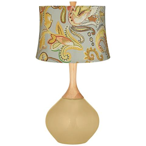 Humble Gold Yellow Paisley Wexler Table Lamp