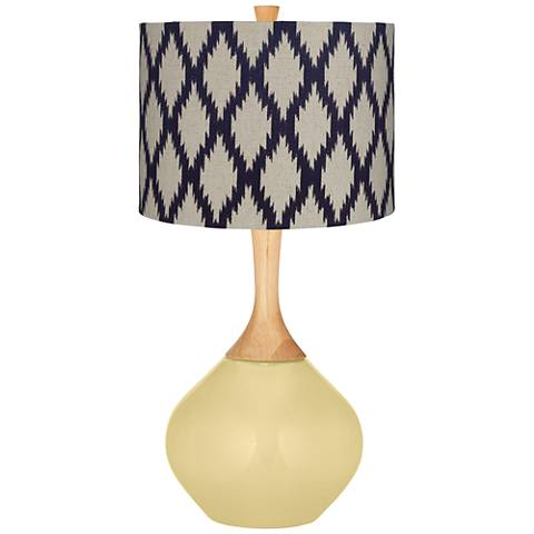 Butter Up Beige Diamonds Wexler Table Lamp