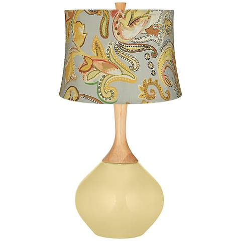 Butter Up Yellow Paisley Wexler Table Lamp