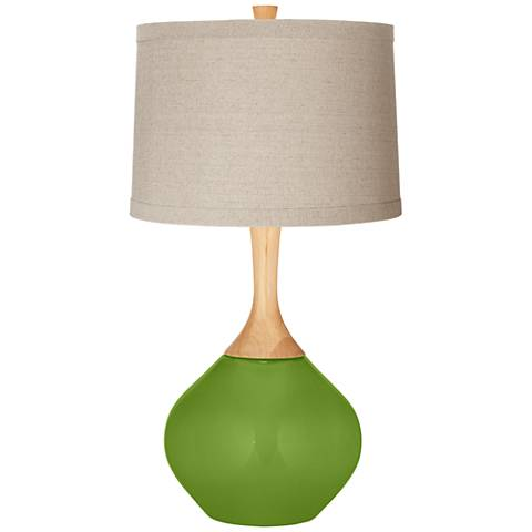 Gecko Natural Linen Drum Shade Wexler Table Lamp