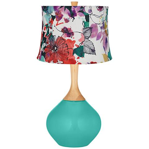 Synergy Multi-Color Flowers Wexler Table Lamp