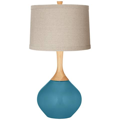 Great Falls Natural Linen Drum Shade Wexler Table Lamp