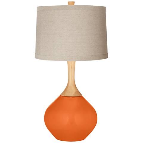Invigorate Natural Linen Drum Shade Wexler Table Lamp