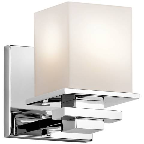 "Kichler Tully 6 1/2"" High Chrome Opal Bath Sconce"