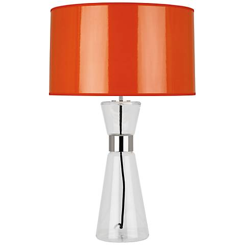 Robert Abbey Penelope Large Orange Shade Table Lamp