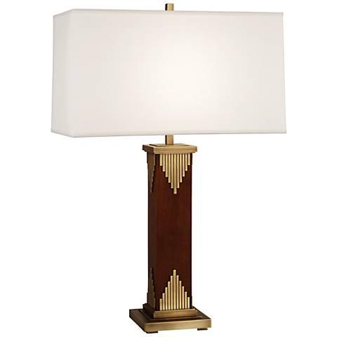Wentworth Walnut Aged Brass Table Lamp