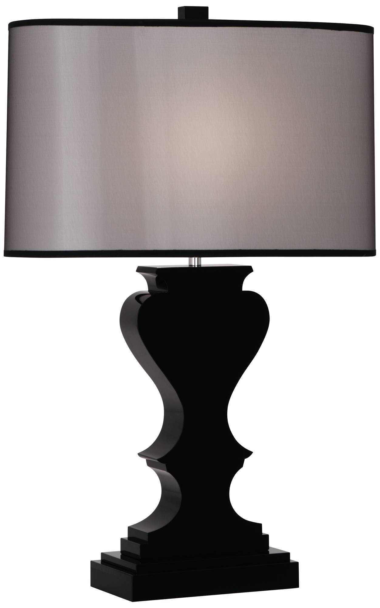 Dunmore black shade black crystal table lamp