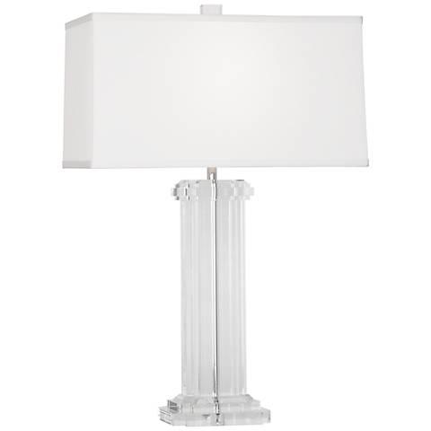 Wythe White Silk Shade Table Lamp