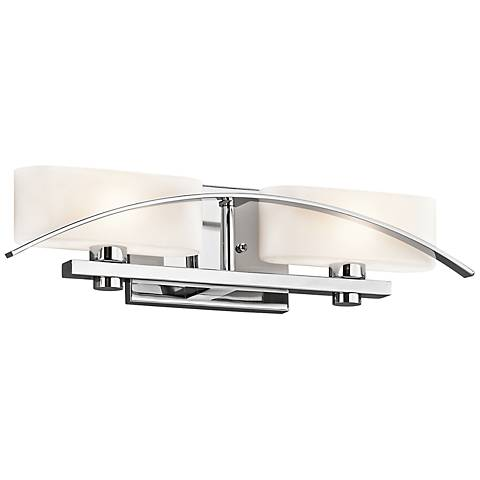 "Kichler Suspension 20"" Wide Chrome 2-Light Bath Light"