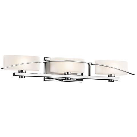"Kichler Suspension 30 1/4"" Wide Chrome 3-Light Bath Light"