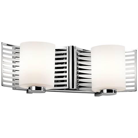 """Kichler Selene 16"""" Wide Chrome Cased 2-Light Bath Light"""