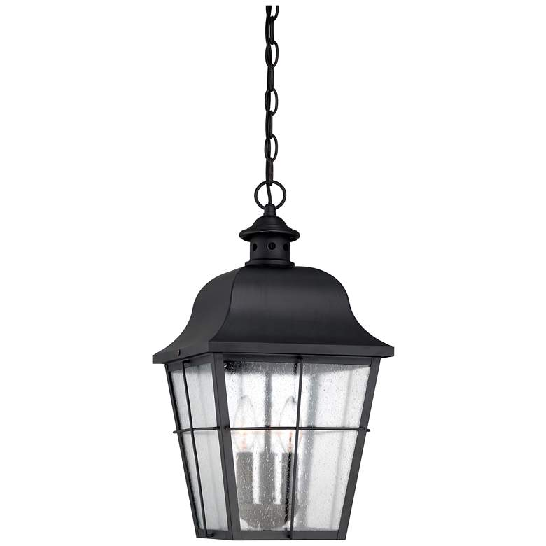 "Quoizel Millhouse 19"" High Black Outdoor Hanging Light"