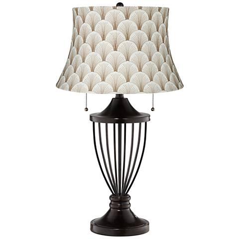 Boden Mocha Shade Bronze Urn Table Lamp