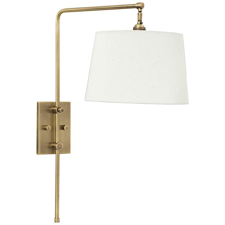 House of Troy Crown Point Antique Brass Swing Arm Wall Lamp