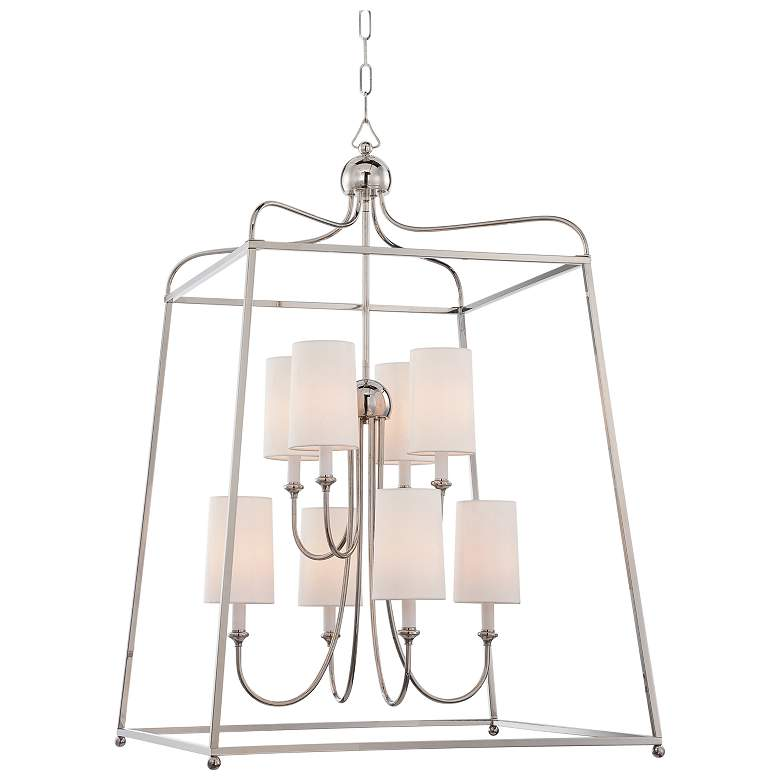 "Sylvan 27 1/2"" Wide Polished Nickel 8-Light Chandelier"