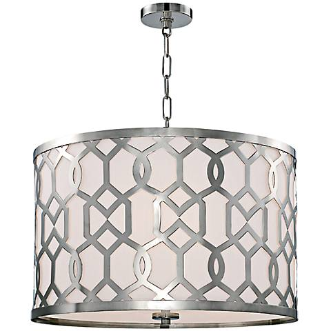 "Crystorama Jennings 24 1/4""W Nickel 5-Light Pendant"