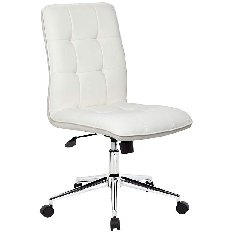 Modern White Adjustable Office Chair