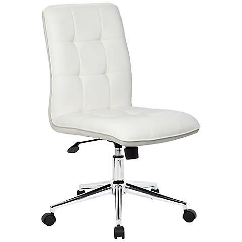Modern White Adjustable Office Chair