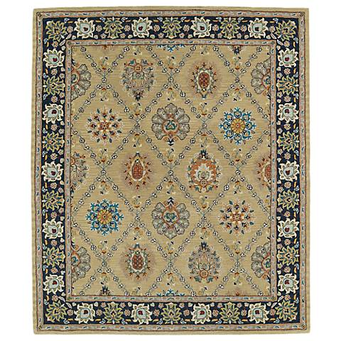 Kaleen Taj TAJ03-05 Gold Wool Area Rug