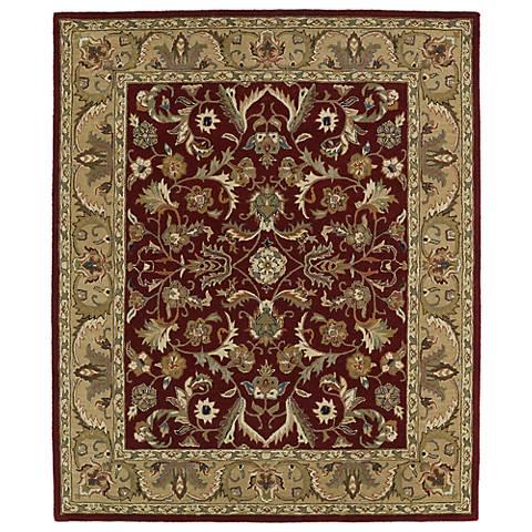 Kaleen Taj TAJ04-25 Red Wool Area Rug