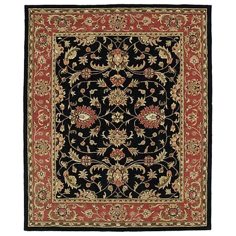 Kaleen Taj TAJ08-02 Black Wool Area Rug