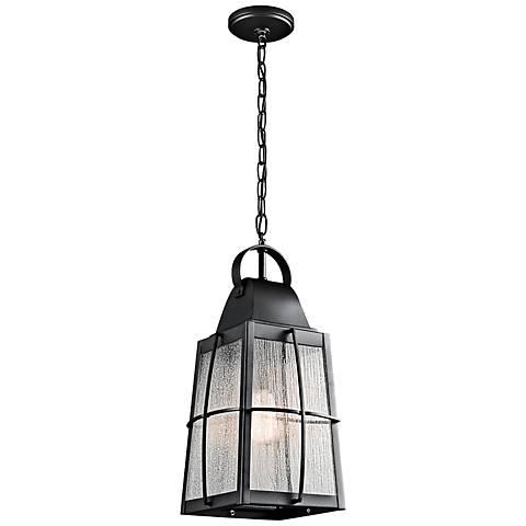 "Kichler Tolerand  19 3/4""H Black Outdoor Hanging Light"