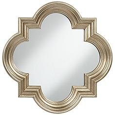 "Farley Silver 34 1/2"" x 34 1/2"" Quatrefoil Mirror"