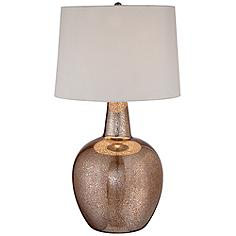 "Nita 27 1/2"" High Distressed Brown Glass Table Lamp"