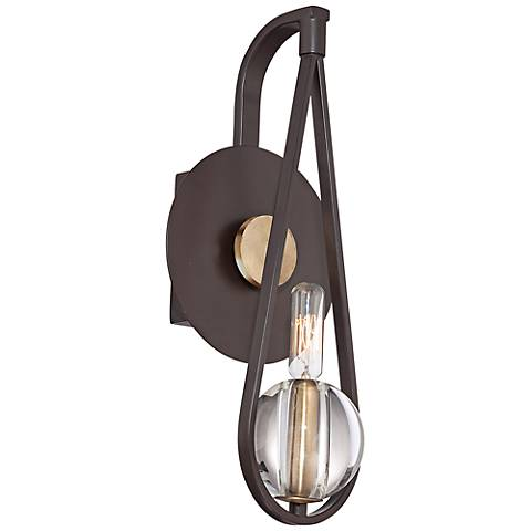 "Quoizel Uptown Seaport 15"" High Bronze Wall Sconce"