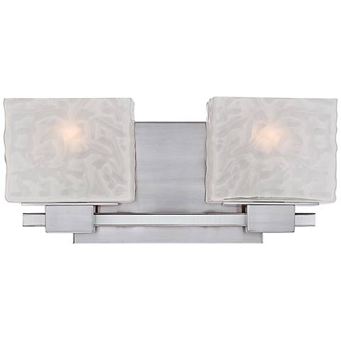 "Quoizel Melody 15"" Wide Nickel 2-Light Bath Fixture"