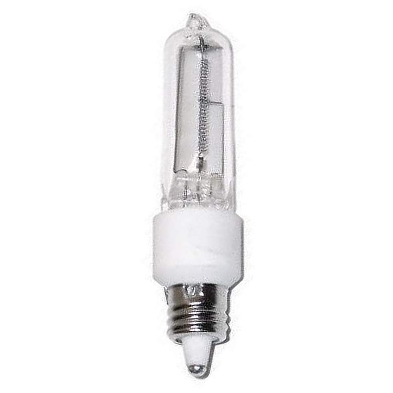 Satco 75 Watt Mini Candelabra Clear Halogen Light Bulb