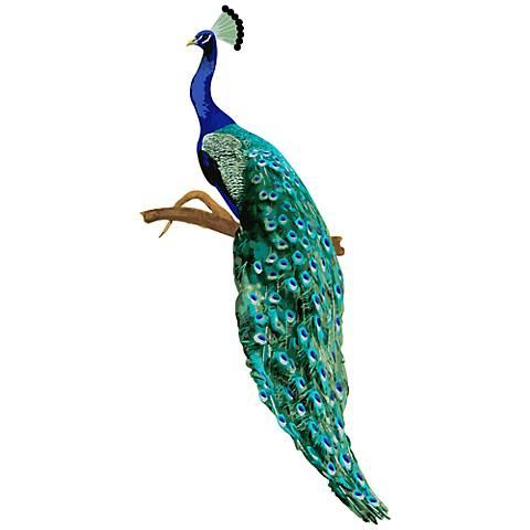 Perching Peacock II Wall Decal