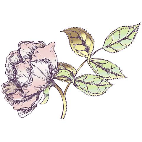 Rose Bud I Wall Decal