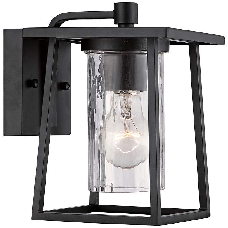 "Quoizel Lodge 9"" High Black Outdoor Wall Light"