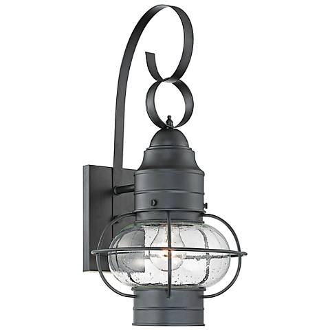 Quoizel cooper 21 high black outdoor wall light 6t831 lamps plus aloadofball Choice Image