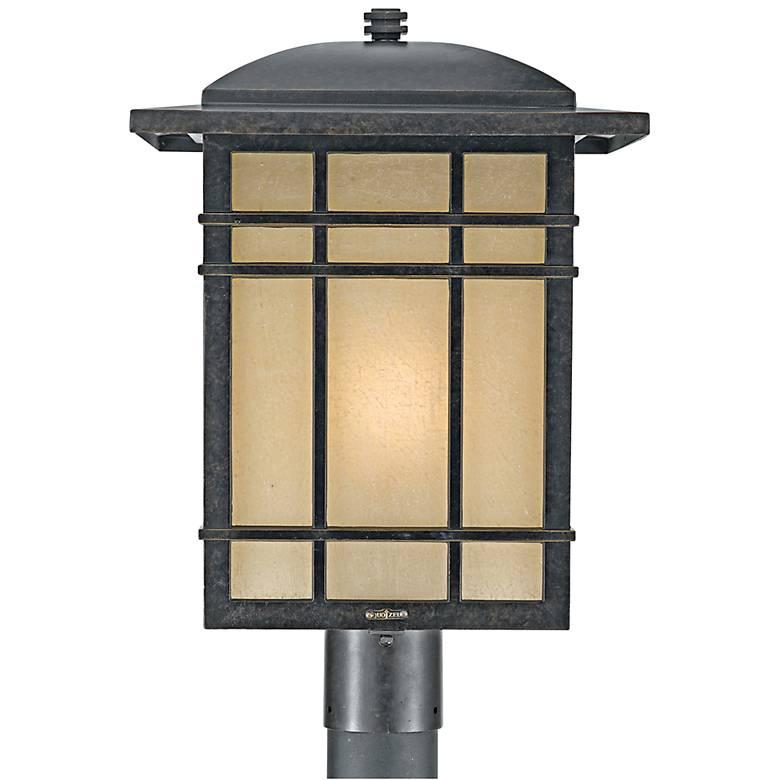 """Quoizel Hillcrest 19 1/2"""" High Bronze Outdoor Post Light"""