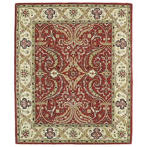 Kaleen Taj TAJ11-25 Red Wool Area Rug
