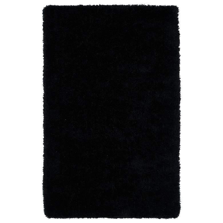 Kaleen Posh PSH01-02 5'x7' Black Shag Area Rug