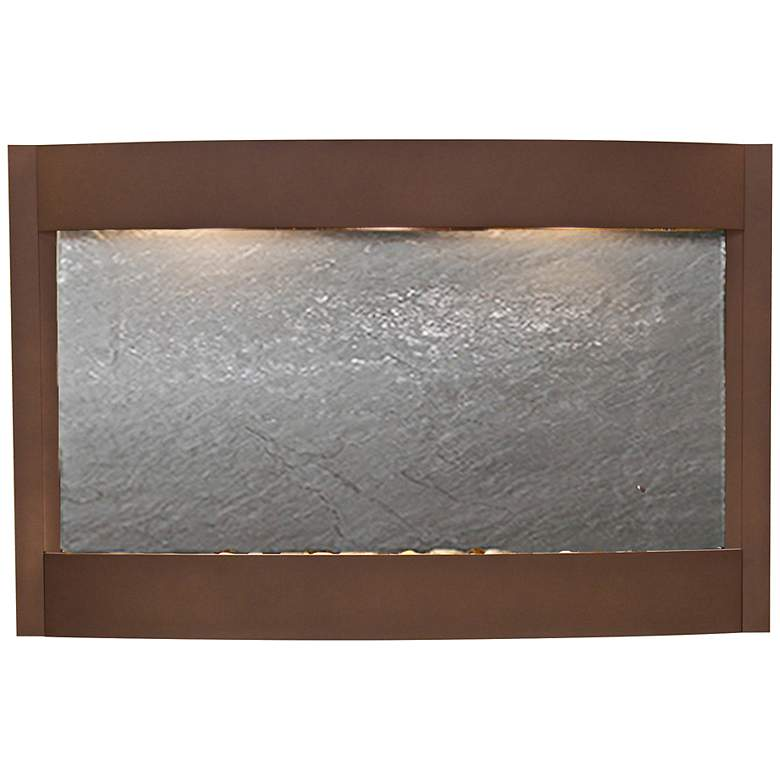 "Calming Waters Black Stone Woodland Brown 35""H Wall"