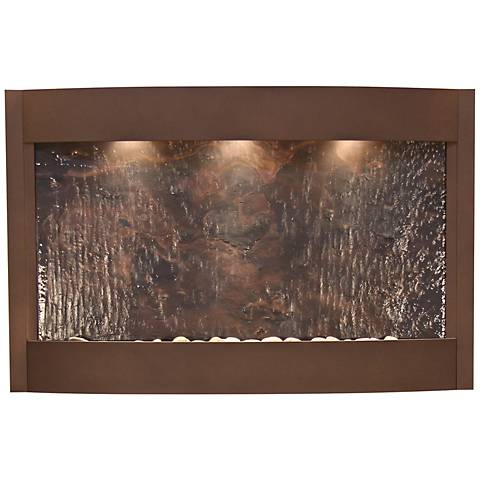 Calming Waters Featherstone Woodland Brown Wall Fountain