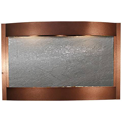 "Calming Waters Black Stone Copper Vein 35""H Wall Fountain"