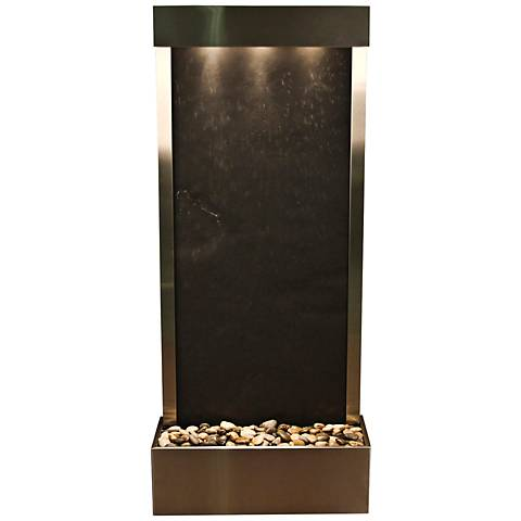 "Harmony River Steel Indoor Black Featherstone 70""H Fountain"